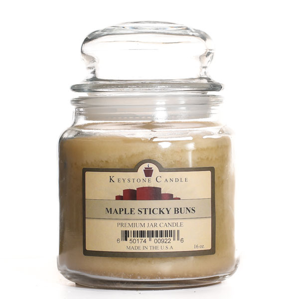 Maple Sticky Buns Jar Candles 16 oz