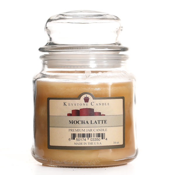 Mocha Latte Jar Candles 16 oz