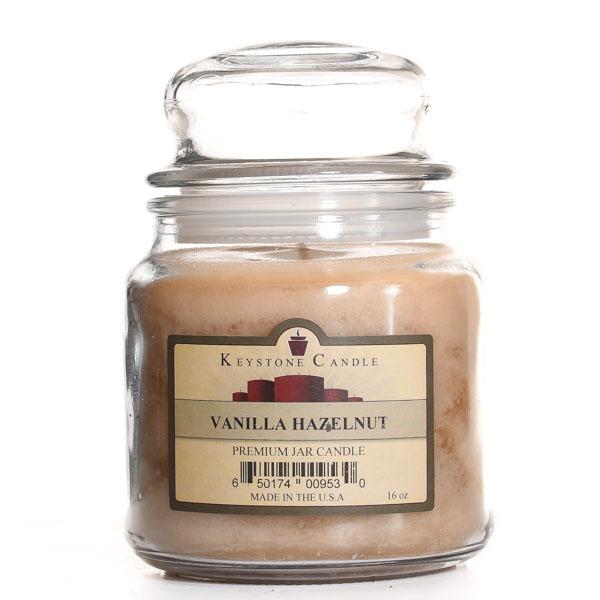 Vanilla Hazelnut Jar Candles 16 oz