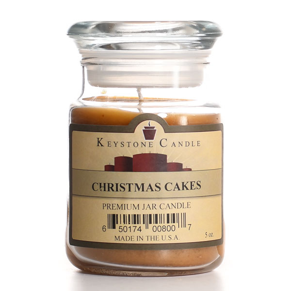 Christmas Cakes Jar Candles 5 oz