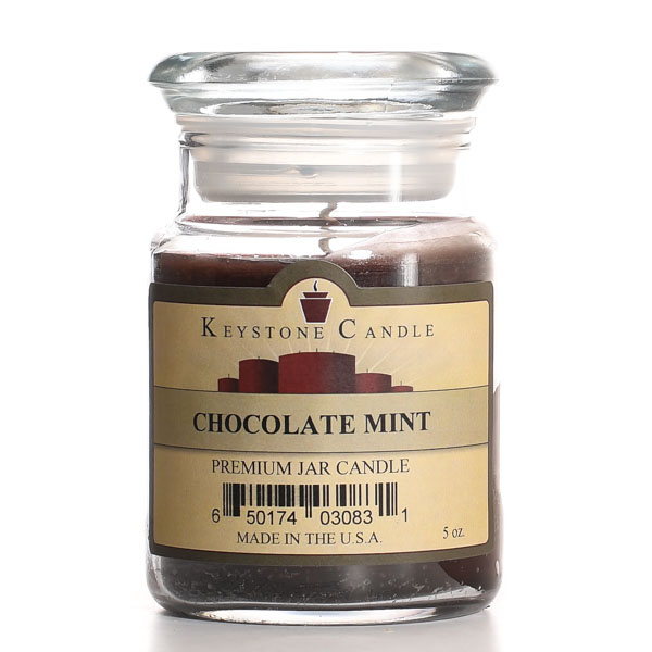 Chocolate Mint Jar Candles 5 oz