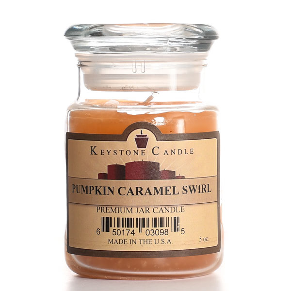 Pumpkin Caramel Swirl Jar Candles 5 oz
