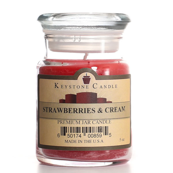 Strawberries and Cream Jar Candles 5 oz