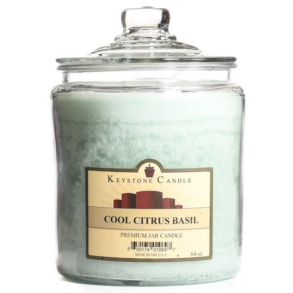 Cool Citrus Basil Jar Candles 64 oz