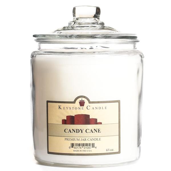 Candy Cane Jar Candles 64 oz