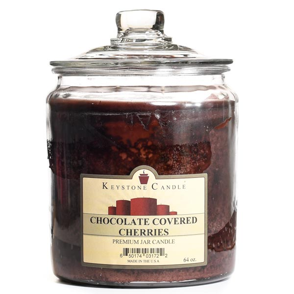 Chocolate Covered Cherries Jar Candles 64 oz