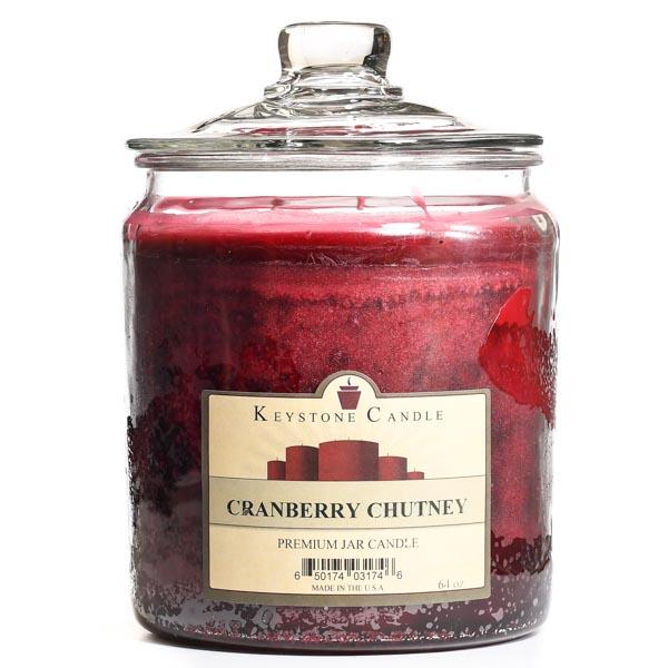 Cranberry Chutney Jar Candles 64 oz