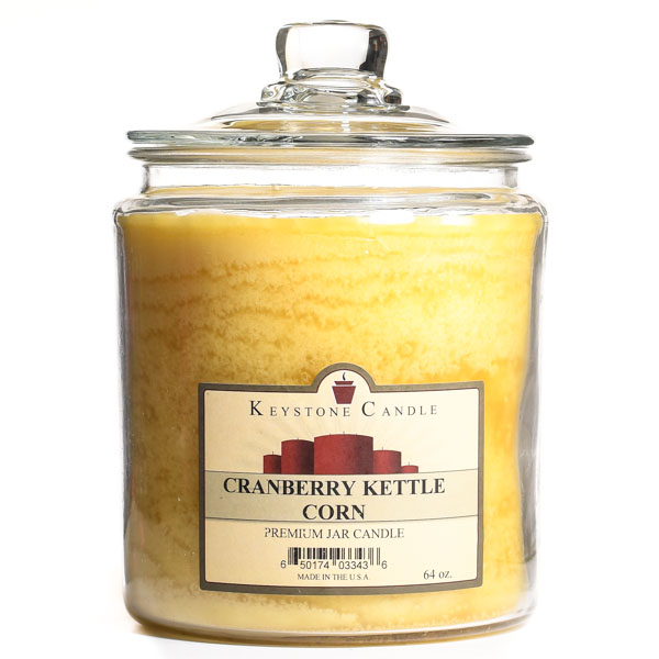 Cranberry Kettle Corn Jar Candles 64 oz