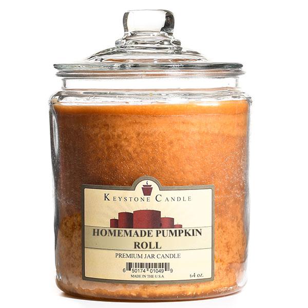 Homemade Pumpkin Roll Jar Candles 64 oz
