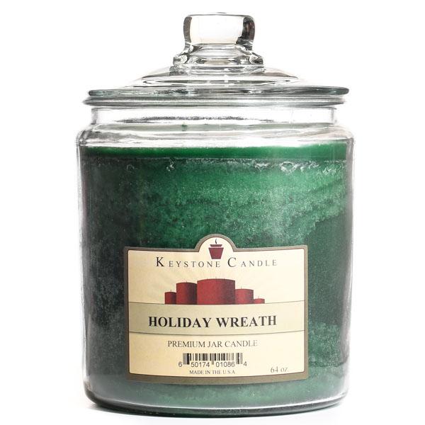 Holiday Wreath Jar Candles 64 oz