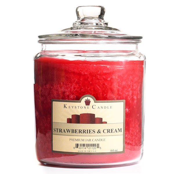 Strawberries and Cream Jar Candles 64 oz
