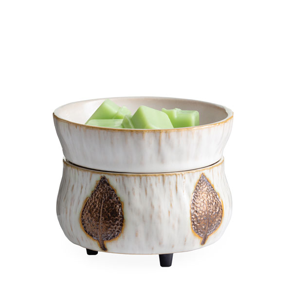 Candle Warmer & Dish Bronze Leaf