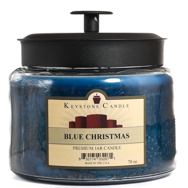 Blue Christmas 70 oz Montana Jar Candle