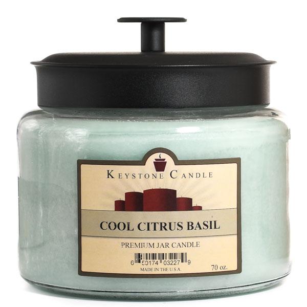 Cool Citrus Basil 70 oz Montana Jar Candles