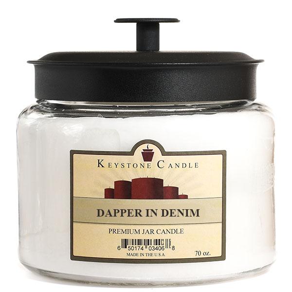 Dapper In Denim 70 oz Montana Jar Candle
