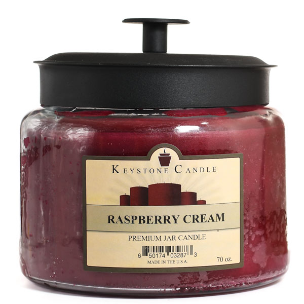 Raspberry Cream 70 oz Montana Jar Candles