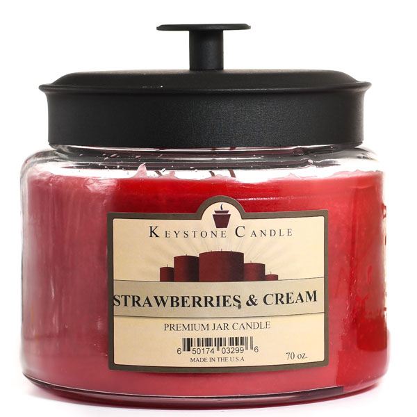 Strawberries and Cream 70 oz Montana Jar Candles