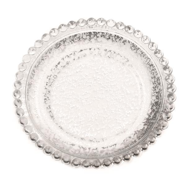 5 Inch Silver Beaded Pillar Plates