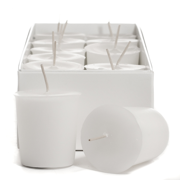 Unscented White Votive Candles
