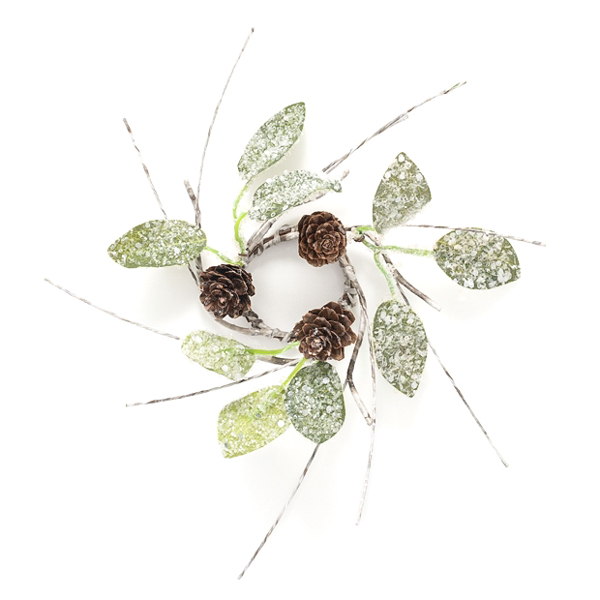 Birch Leaf Pine Cone 1.5 Inch Candle Ring