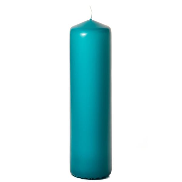 Mediterranean blue 3 x 12 Unscented Pillar Candles