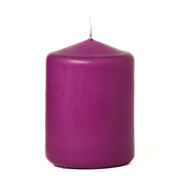 Lilac 3 X 4 Unscented Pillar Candles