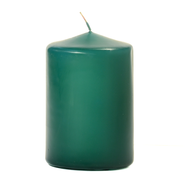 Forest Green 3 X 4 Unscented Pillar Candles