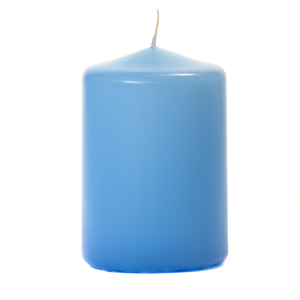 Light Blue 3 X 4 Unscented Pillar Candles
