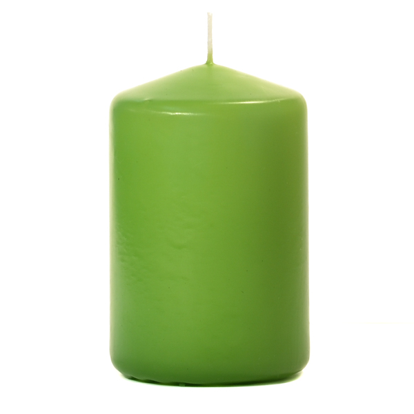 Lime Green 3 X 4 Unscented Pillar Candles