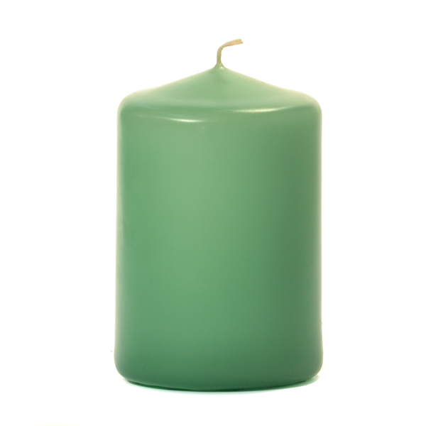 Mint Green 3 X 4 Unscented Pillar Candles