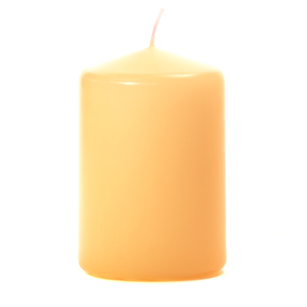 Peach 3 X 4 Unscented Pillar Candles