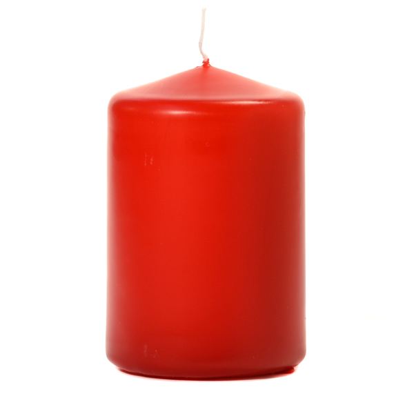Red 3 X 4 Unscented Pillar Candles