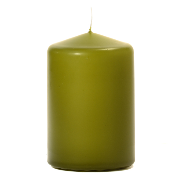 Sage 3 X 4 Unscented Pillar Candles