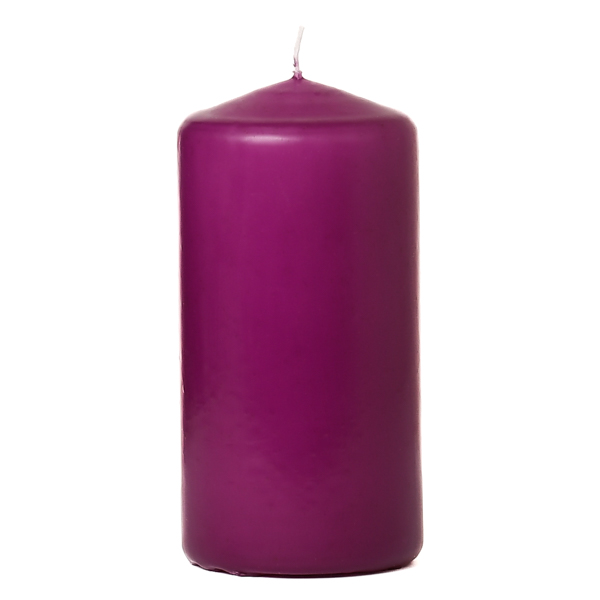 Lilac 3 x 6 Unscented Pillar Candles