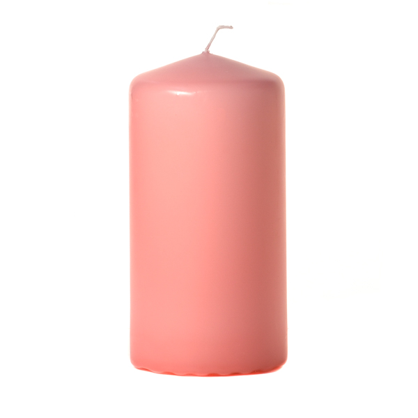 Pink 3 x 6 Unscented Pillar Candles