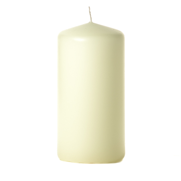 Ivory 3 x 6 Unscented Pillar Candles