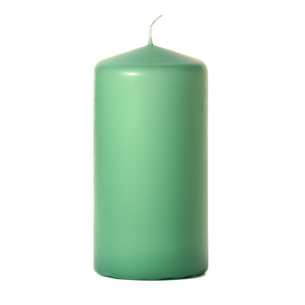 Mint green 3 x 6 Unscented Pillar Candles
