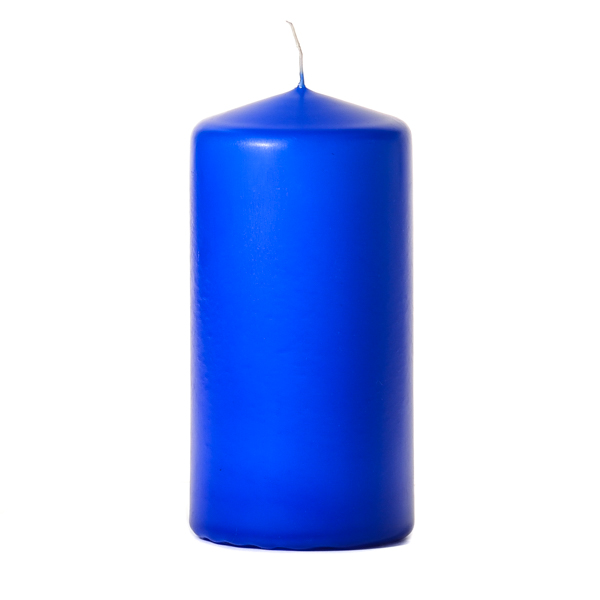 Royal blue 3 x 6 Unscented Pillar Candles