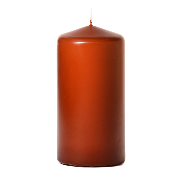 Terracotta 3 x 6 Unscented Pillar Candles