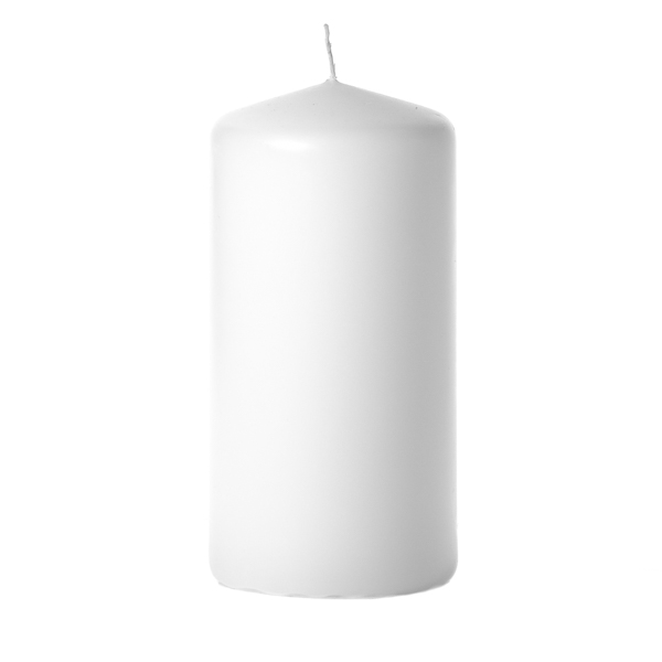 White 3 x 6 Unscented Pillar Candles