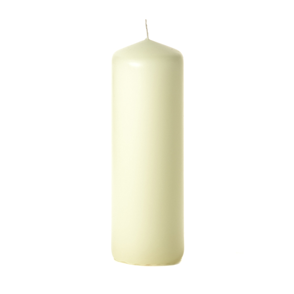 Ivory 3 x 9 Unscented Pillar Candles