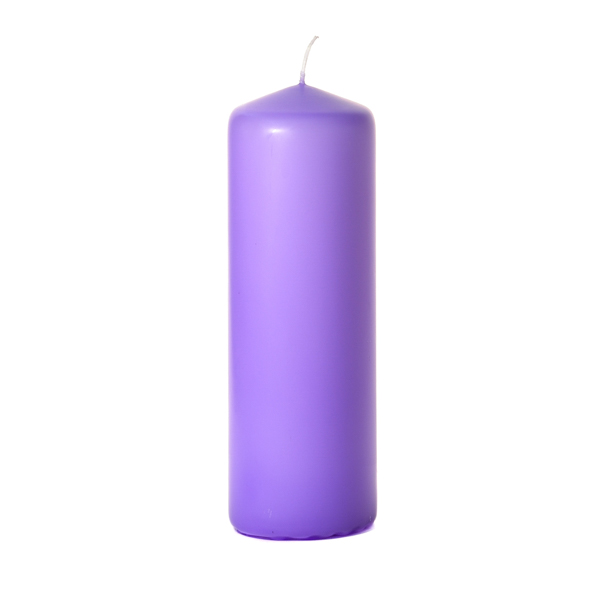 Orchid 3 x 9 Unscented Pillar Candles