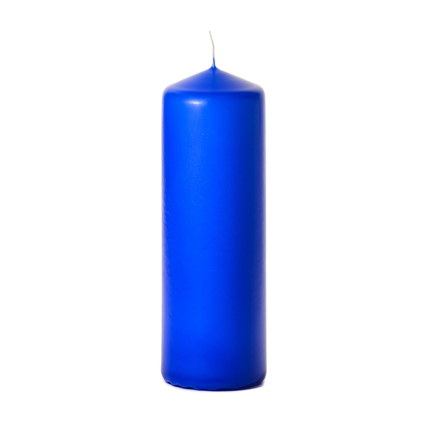 Royal blue 3 x 9 Unscented Pillar Candles