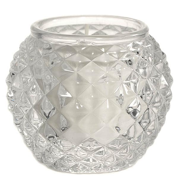 Chunky Glass Orb Votive Cup