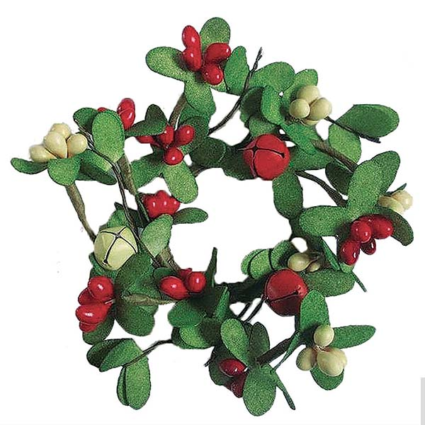silk candle rings fl foliage decorative accents - Decorative Christmas Candle Rings