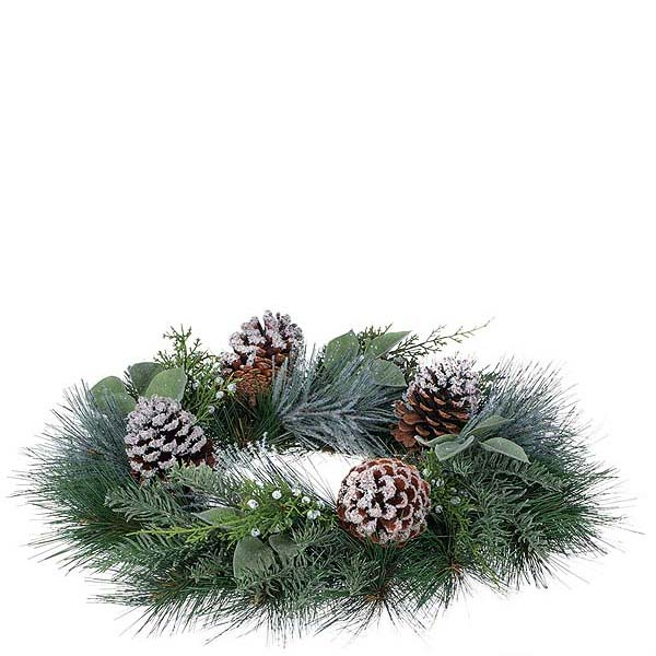 Pine Noble Fir 6.5 Inch Candle Ring