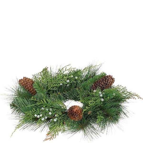 Mixed Pine 4.5 Inch Candle Ring