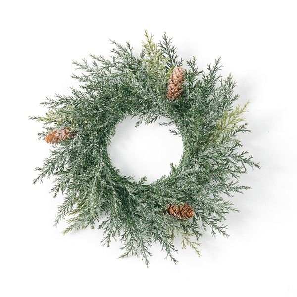 Frosted Arborvitae 4.5 Inch Candle Ring
