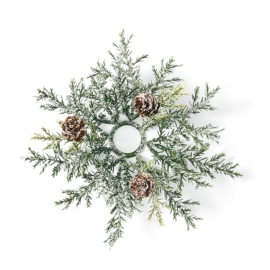 Frosted Arborvitae 1 Inch Candle Ring