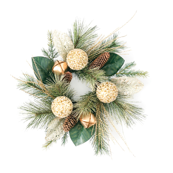 Pine Bells 4.5 Inch Candle Ring